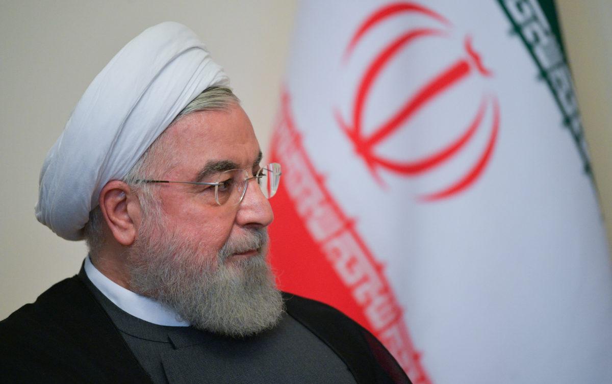 Tổng thống Iran Hassan Rouhani tại Armenia tháng 10/2019. Ảnh: Reuters.