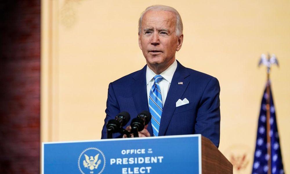 Tổng thống đắc cử Joe Biden phát biểu trong Lễ Tạ ơn tại Wilmington, Delaware ngày 25/11. Ảnh: Reuters.