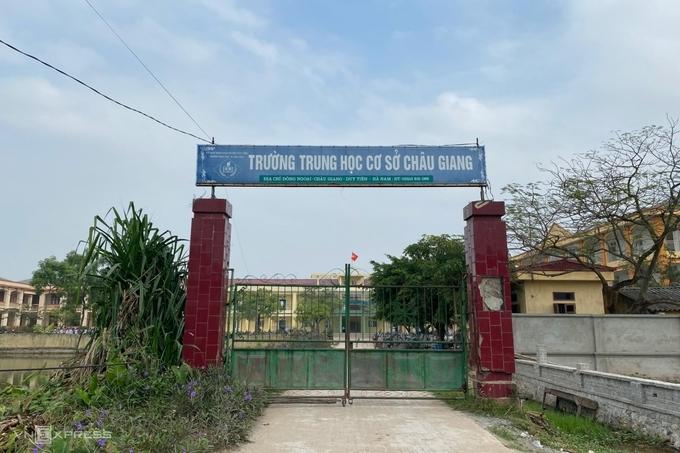 Trường THCS Châu Giang, thị xã Duy Tiên, Hà Nam. Ảnh: Thanh Hằng.