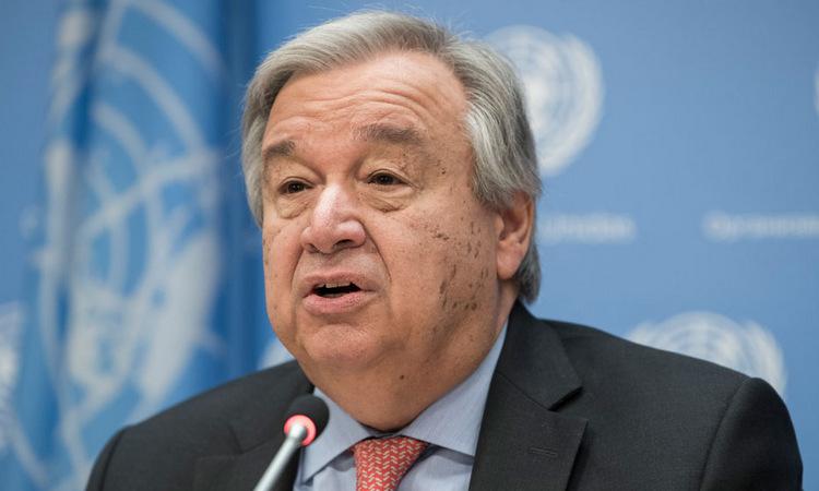 Tổng thư ký Liên Hợp Quốc Antonio Guterres trong một hội thảo năm 2018. Ảnh: UN.