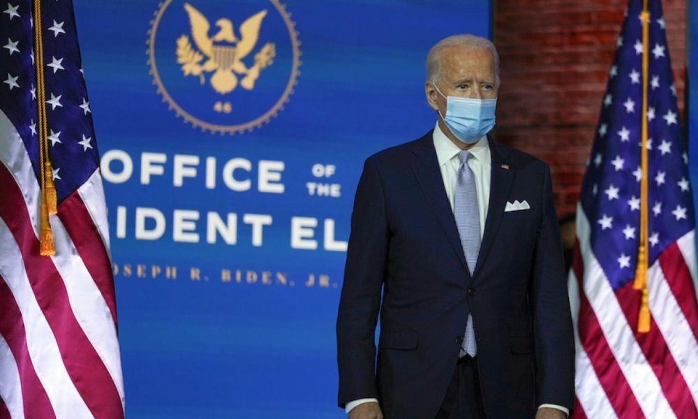 Tổng thống đắc cử Biden tại Wilmington, Delaware ngày 24/11. Ảnh: AP.