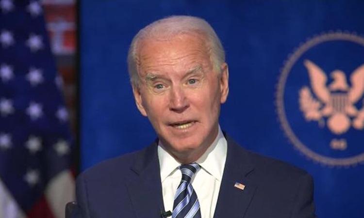 Tổng thống đắc cử Mỹ Joe Biden trả lời phỏng vấn CNN hôm 3/12. Ảnh: CNN.