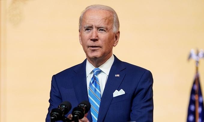 Tổng thống đắc cử Joe Biden phát biểu tại Wilmington, Delaware, hôm 25/11. Ảnh:Reuters.