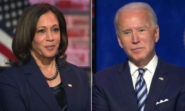 Tổng thống đắc cử Mỹ Joe Biden và Phó tổng thống đắc cử Kamala Harris trả lời phỏng vấn CNN hô 3/12. Ảnh: CNN.