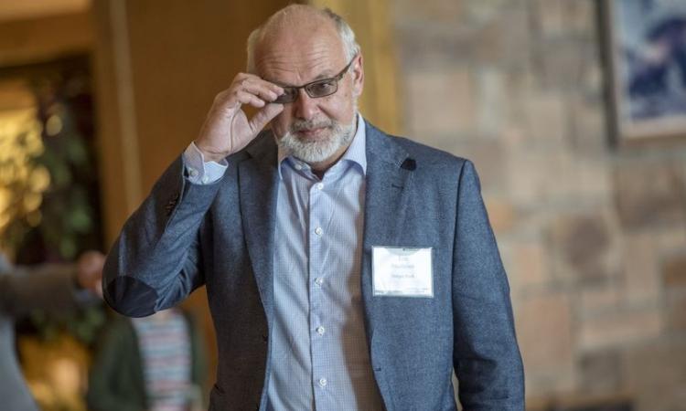 Phó thống đốc ngân hàng trung ương Na Uy Jon Nicolaisen tại Wyoming, Mỹ, hôm 8/2017. Ảnh: Bloomberg.