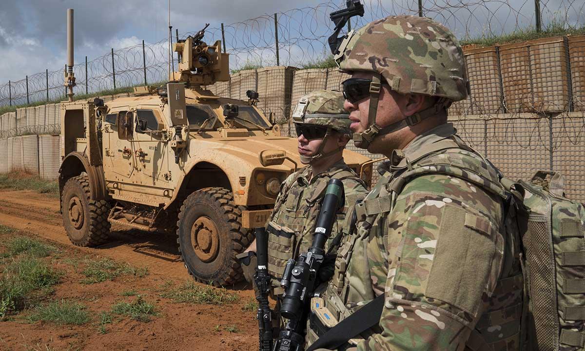 Binh sĩ Mỹ tuần tra tại Somalia, tháng 12/2019. Ảnh: US Army.