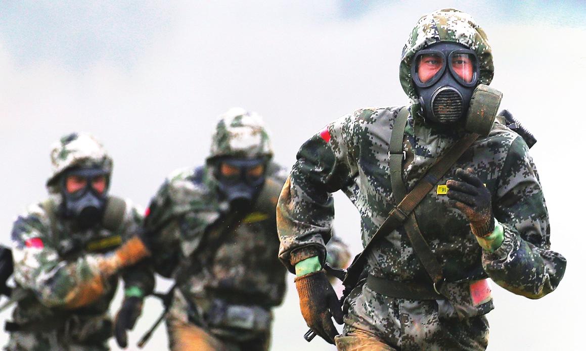 Lính Trung Quốc thi đấu tại hội thao Army Games ở Nga hồi tháng 8. Ảnh: TASS.