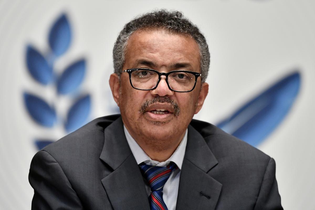 Giám đốc Tổ chức Y tế Thế giới (WHO) Tedros Adhanom Ghebreyesus phát biểu tại Geneva hồi tháng 7. Ảnh: Reuters