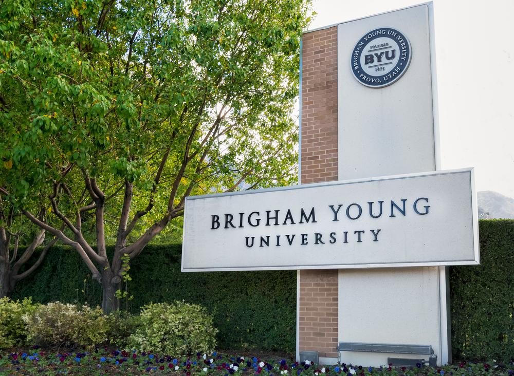 Cổng vào Đại học Brigham Young. Ảnh: Shutterstock