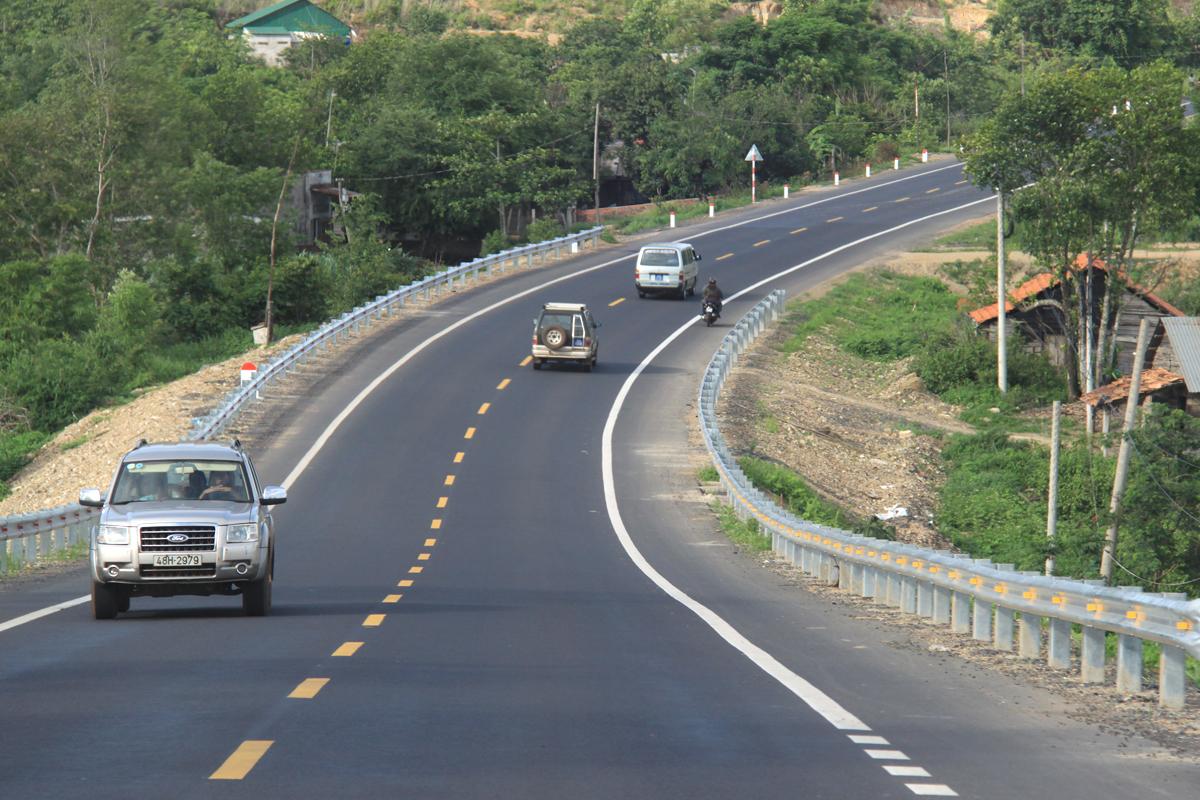 Cao tốc TP HCM - Bình Phước sẽ kết nối với quốc lộ 14 (đường Hồ Chí Minh) hiện nay. Ảnh: Anh Duy.