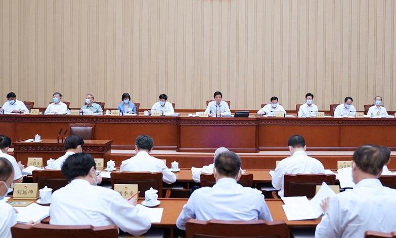 Cuộc họp của Ủy ban Thường vụ quốc hội Trung Quốc hồi tháng 8. Ảnh: Xinhua.
