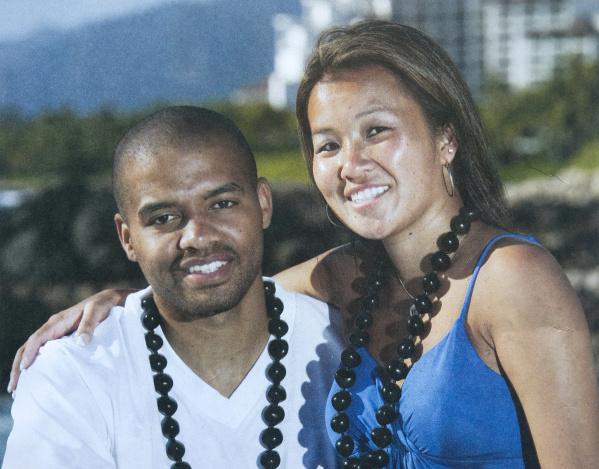 Monica Quan (trái) và chồng chưa cưới Keith Lawrence. Ảnh: Concordia University.
