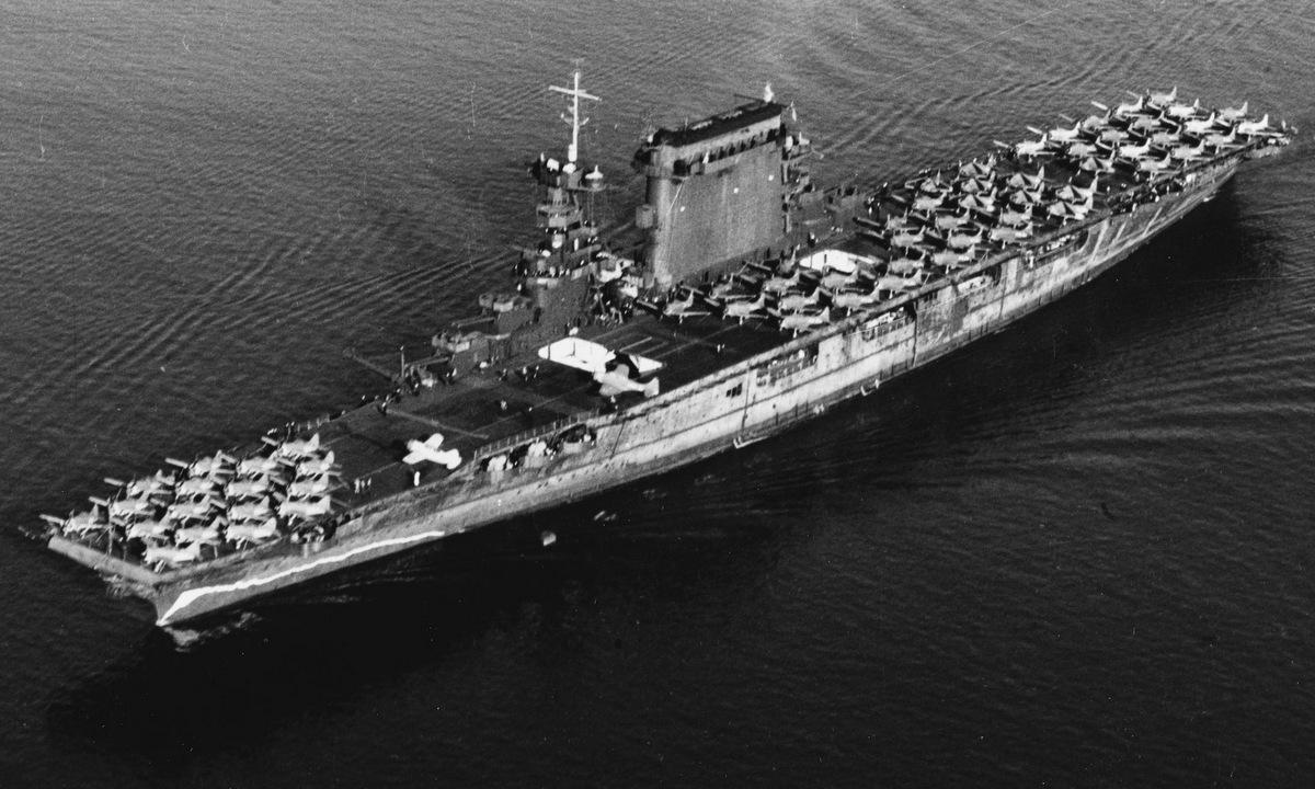 USS Saratoga rời cảng San Diego giữa năm 1941. Ảnh: US Navy.