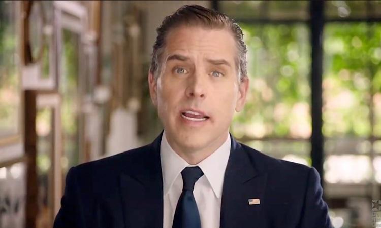 Hunter Biden, con trai của Tổng thống đắc cử Mỹ Joe Biden, trong video phát biểu trước Hội nghị Quốc gia đảng Dân chủ hồi tháng 8. Ảnh: AFP.