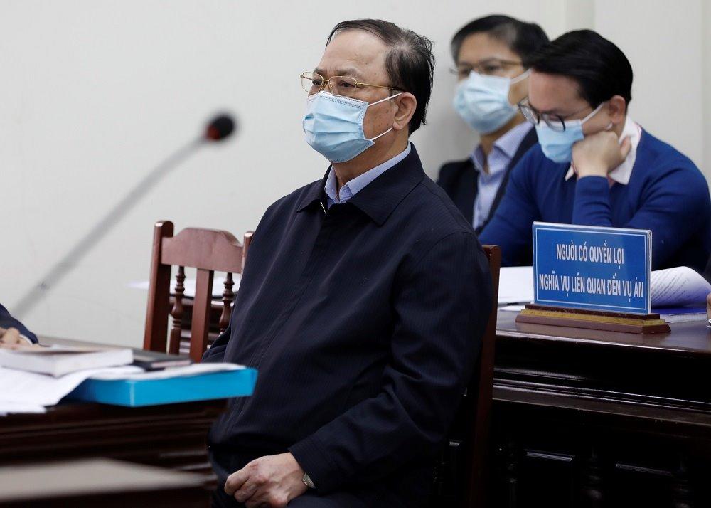 Bị cáo Nguyễn Văn Hiến trong phiên phúc thẩm. Ảnh: Xuân Hoa