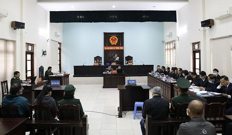 Phiên phúc thẩm tại Toá án Quân sự Trung ương. Ảnh: Xuân Hoa