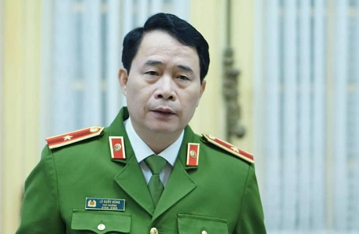 Thiếu tướng Lê Quốc Hùng, Thứ trưởng Bộ Công an. Ảnh: Hoàng Phong