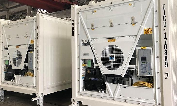 Container đông lạnh qua cải tiến của Thermo King vận chuyển cho khách hàng ở châu Âu trong năm nay. Ảnh: Thermo King