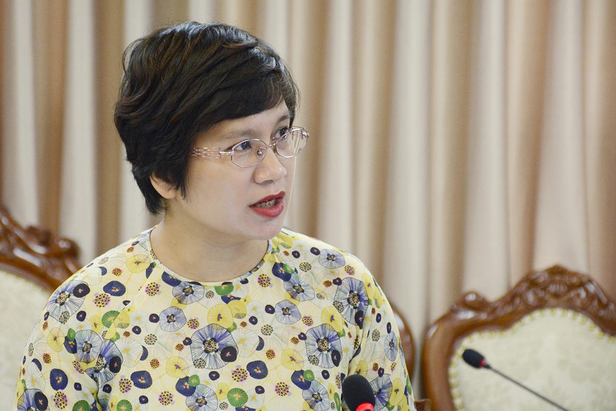 Vụ trưởng Giáo dục đại học Nguyễn Thu Thuỷ thông tin về công tác tuyển sinh. Ảnh: MOET.