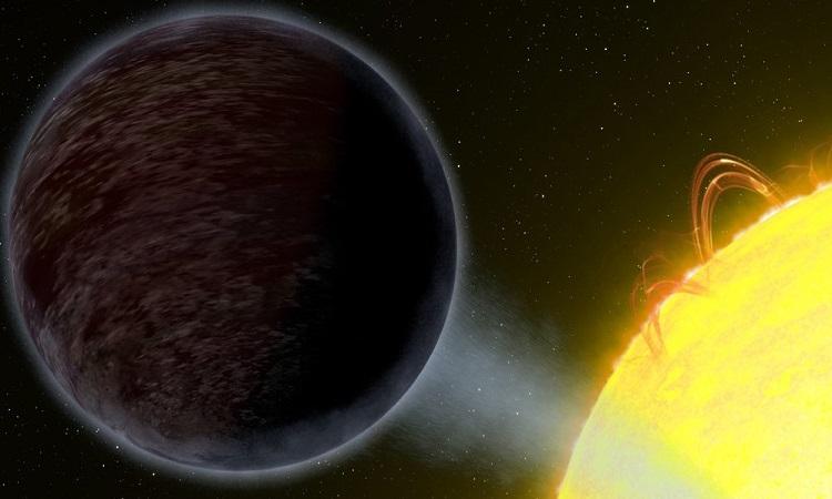 Mô phỏng WASP-12b và ngôi sao chủ. Ảnh: NASA/ESA.