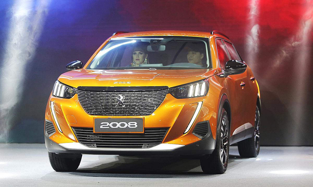 Peugeot 2008 trong sự kiện ra mắt tại nhà máy Thaco ở KCN Chu Lai, hôm 12/12. Ảnh: Đắc Thành