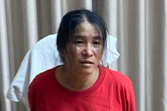 Nghi phạm Lê Thị Chanh bị bắt ở TP HCM. Ảnh: Công an Bình Thuận.