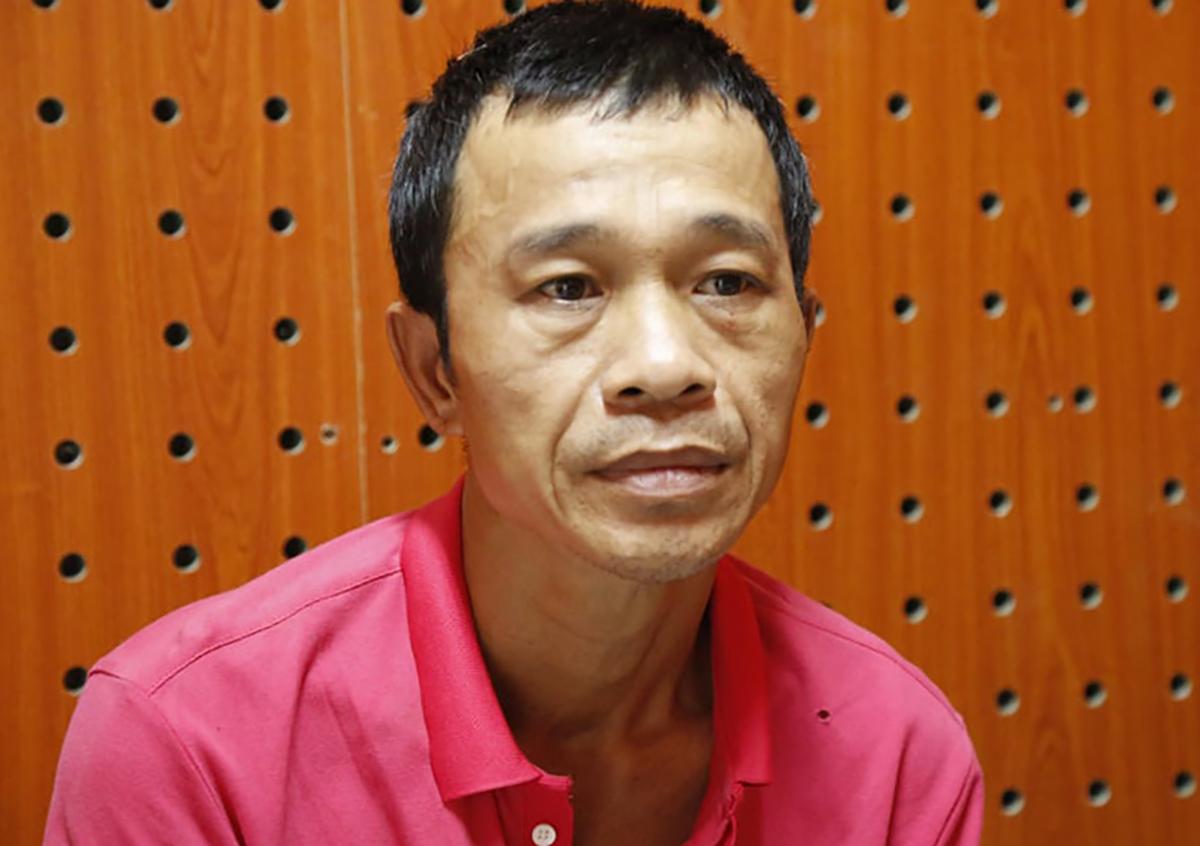 Dũng bị bắt tại cơ quan cảnh sát điều tra. Ảnh: Yên Khánh