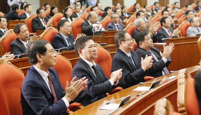 Đại biểu tham dự hội nghị Trung ương 12, khoá XII, tháng 5/2020. Ảnh: TTX