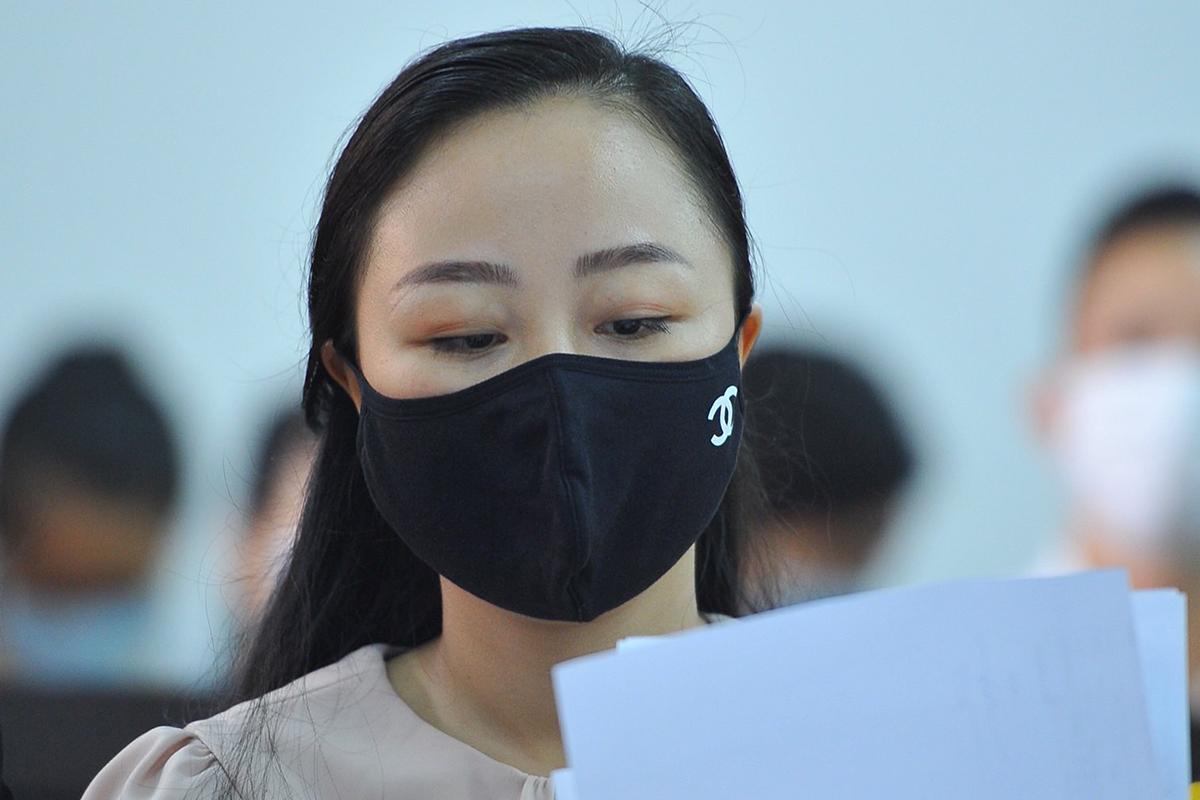 Nữ tiếp viên hàng không Nguyễn Thị Bích Hường. Ảnh: Hữu Khoa.