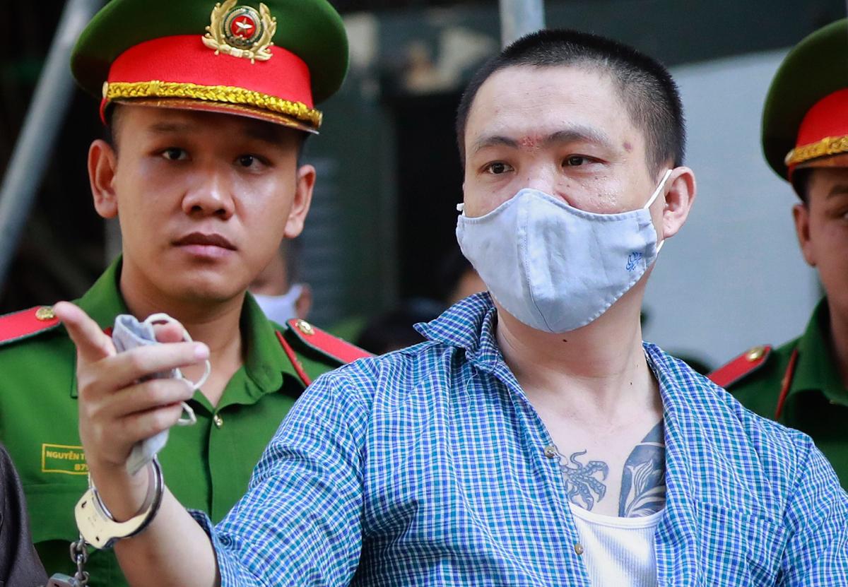 Phạm Thanh Tâm, tức Tý Bà Dòm tại tòa hôm nay. Ảnh: Hữu Khoa.