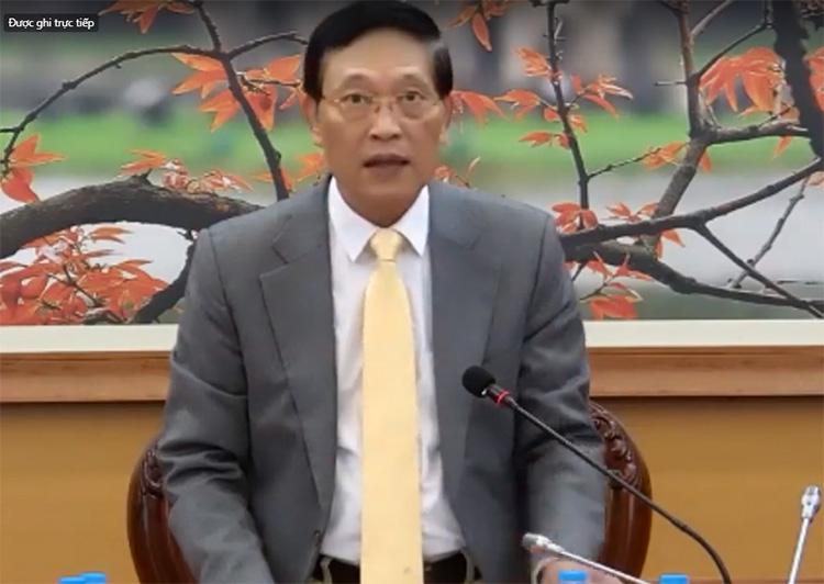 Thứ trưởng Bộ Khoa học và Công nghệ Trần Văn Tùng phát biểu tại tọa đàm. Ảnh chụp màn hình.