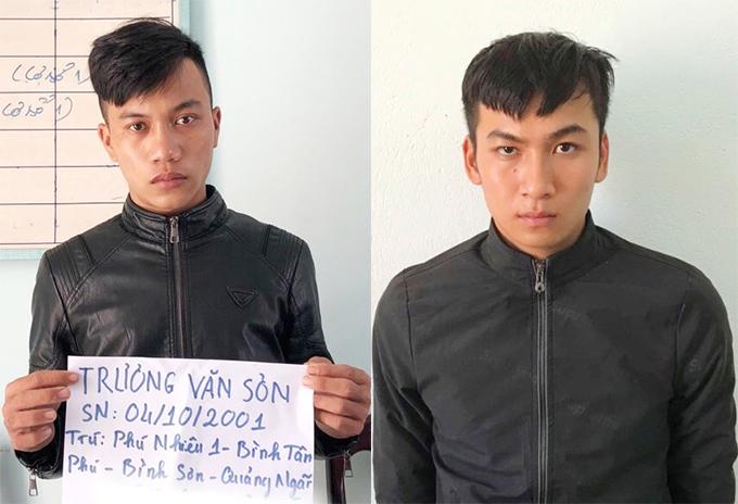 Trương Văn Sơn và Nguyễn Thanh Trường tại cơ quan điều tra. Ảnh: Sơn Thủy.