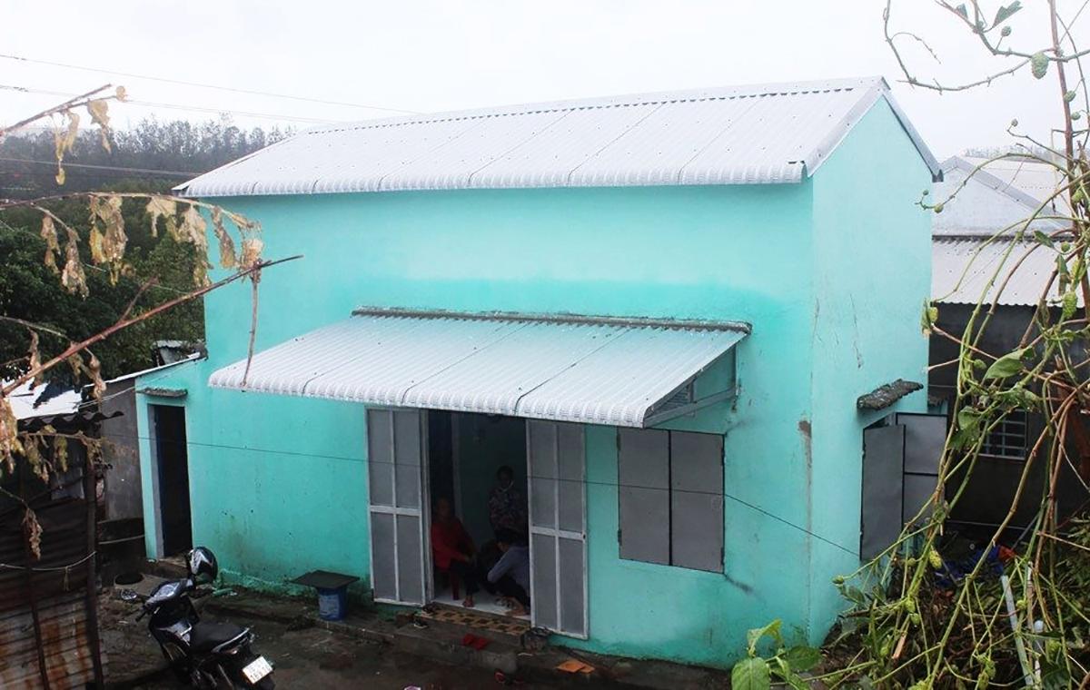 Một ngôi nhà chống bão do UNDP hỗ trợ người dân xây dựng ở Quảng Ngãi. Ảnh: UNDP.