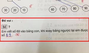 Học sinh giải 69 xoay ngược lại được 69, cô đáp 96