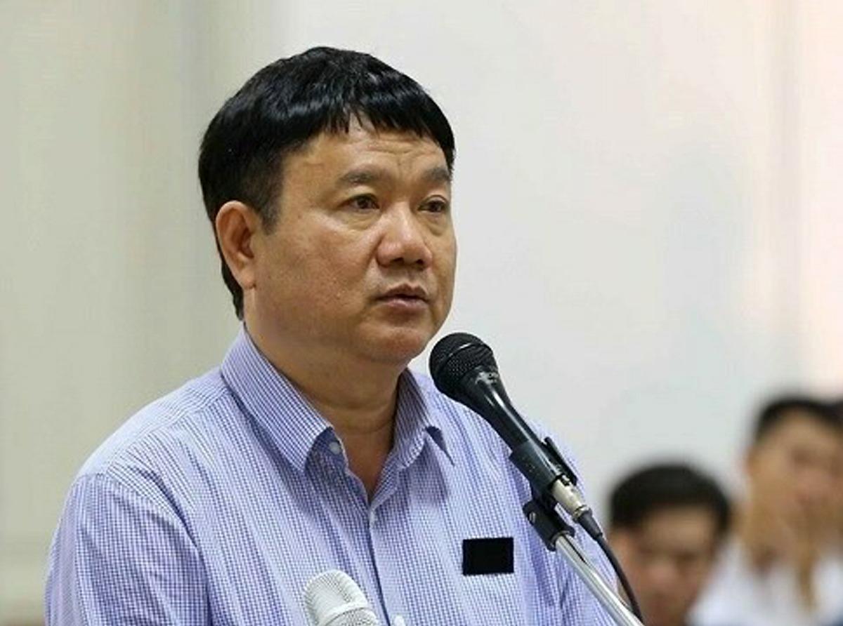 Ông Đinh La Thăng trong lần ra tòa tại Hà Nội năm 2018.Ảnh: TTXVN.