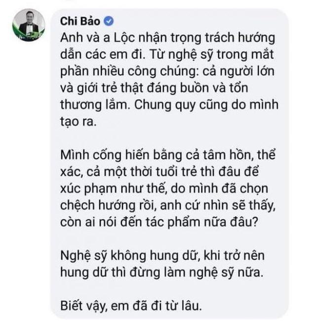 Diễn viên Chi Bảo phê phán các nghệ sĩ hung dữ đến nhà gymer làm loạn.