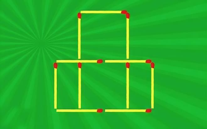 Di chuyển 3 que diêm để tạo 11 hình vuông