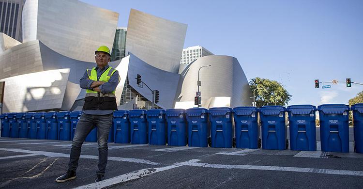 Một đoạn đường ở Los Angeles sử dụng nhựa làm chất kết dính. Ảnh: Plastics Today.