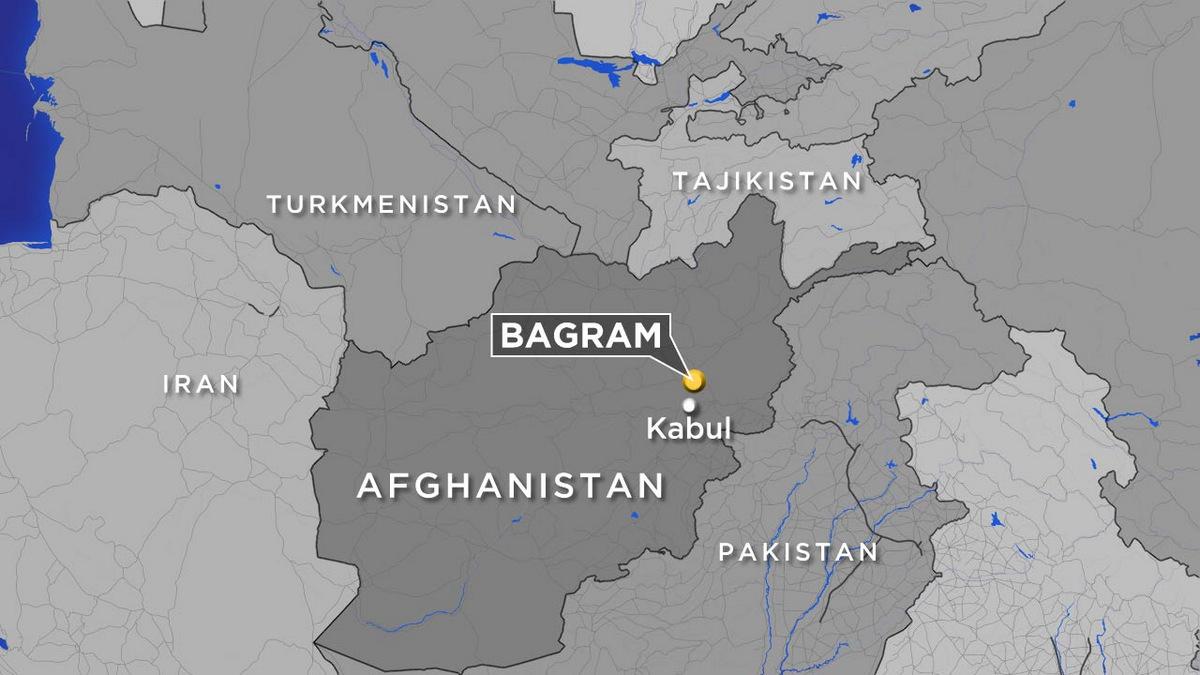 Vị trí sân bay Bagram. Đồ họa: ABC News.