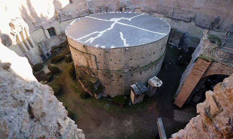 Lăng mộ Augustus là lăng mộ hình trụ lớn nhất trên thế giới. Ảnh: Reuters.