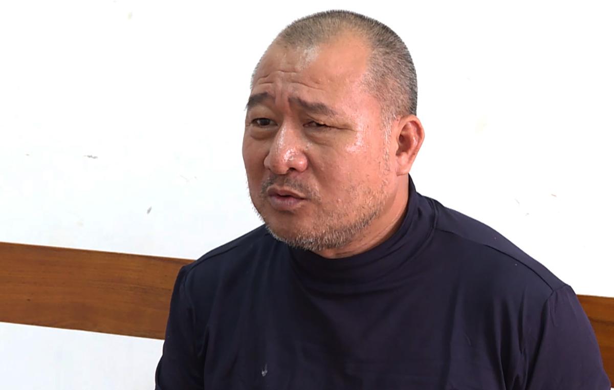 Nguyễn Ngọc Hưng tại Công an tỉnh Bà Rịa - Vũng Tàu. Ảnh: Quang Bình.