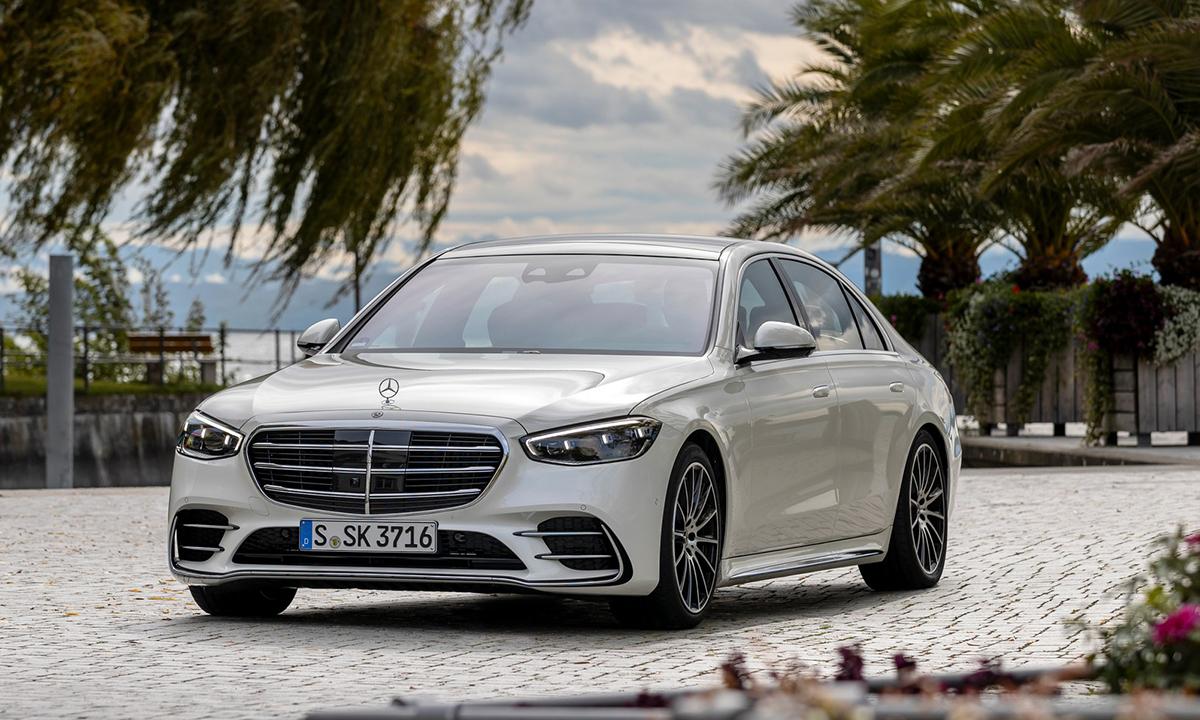 Sedan hạng sang S-class 2021 giới thiệu tại thị trường Mỹ. Ảnh: Mercedes