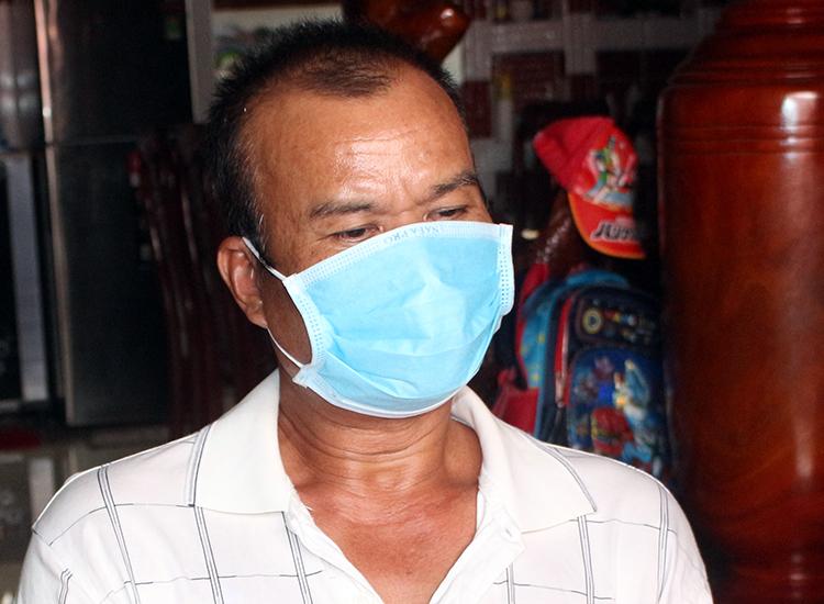 Ông Kim Anh khi bị bắt giữ. Ảnh: Châu Thành