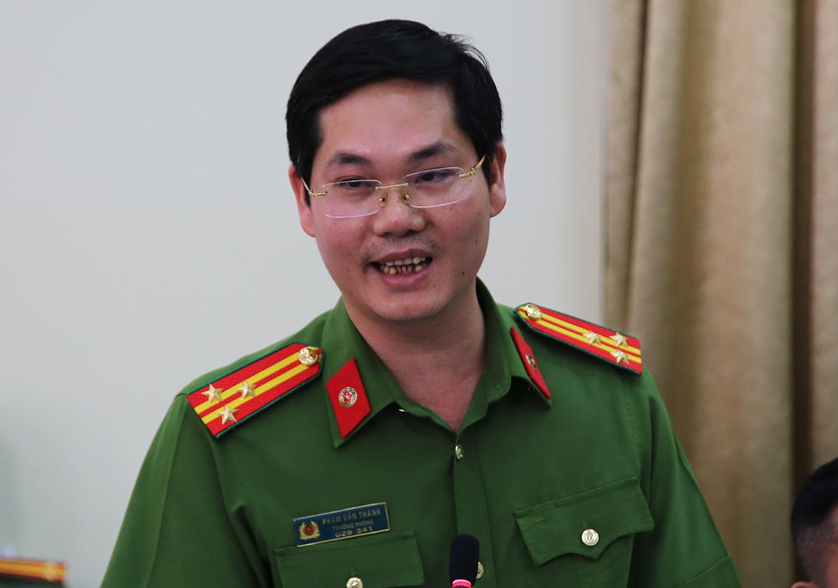 thượng tá Phạm Văn Thành, Trưởng phòng Cảnh sát Kinh tế Công an TP HCM. Ảnh: Quốc Thắng.