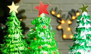 Dạy trẻ bốn cách tự làm cây thông Noel