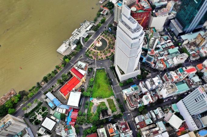 Khu đất 6.080 m2 tại số 2-4-6 Hai Bà Trưng, phường Bến Nghé, quận 1. Ảnh: Hữu Khoa.