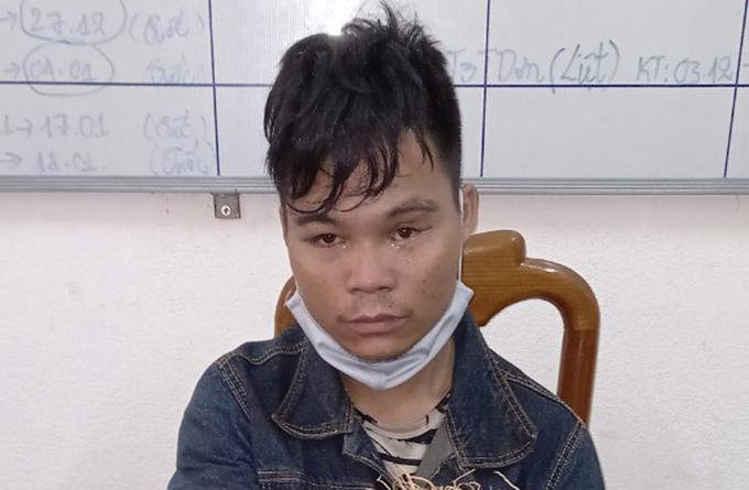 Hồ Văn Phân tại cơ quan điều tra. Ảnh: Sơn Thủy.