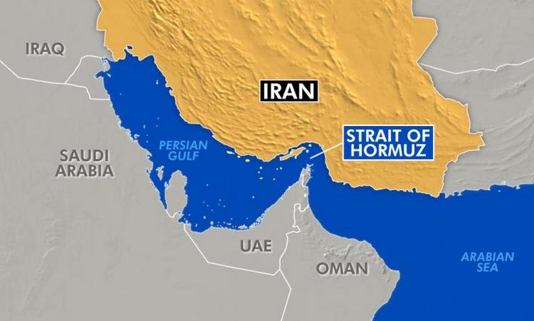 Vị trí eo biển Hormuz. Đồ họa: Fox News.