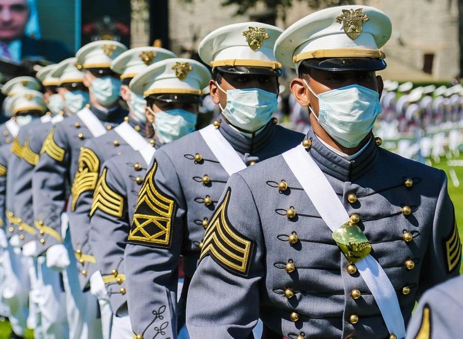 Học viện Quân sự Mỹ tổ chức lễ tốt nghiệp cho Khóa 2020 tại West Point, New York, hôm 13/6. Ảnh: Quân đội Mỹ.