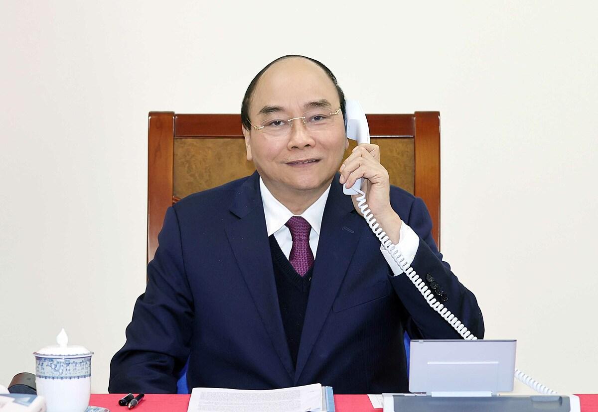 Thủ tướng Nguyễn Xuân Phúc điện đàm với Tổng thống Mỹ Donald Trump ngày 22/12. Ảnh: Bộ Ngoại giao.
